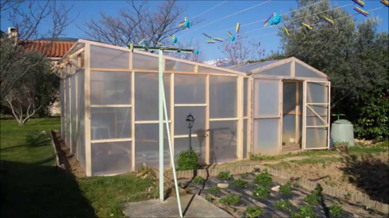 Construire Une Serre En Bois De 24M² dedans Fabriquer Serre De Jardin Polycarbonate