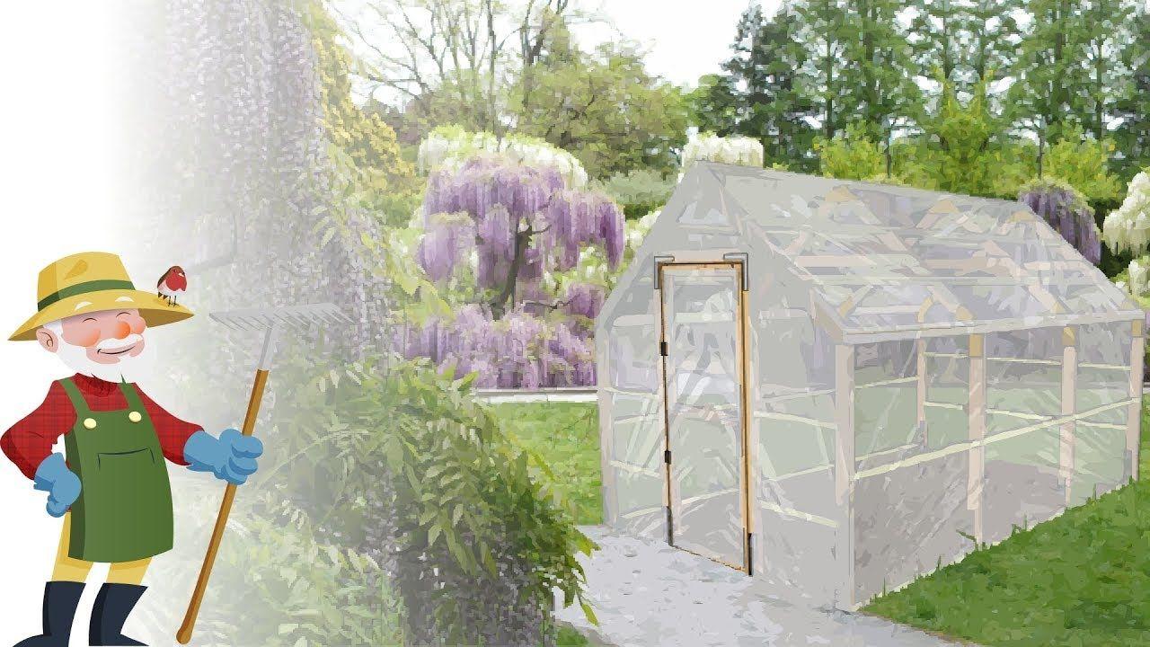 Construire Une Serre En Bois De Jardin - Plans -  ... dedans Construction D Une Serre De Jardin En Bois