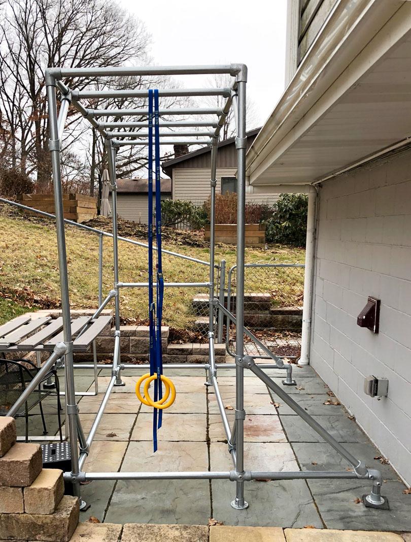 Construire Une Structure De Sport Type Cage À Crossfit ... avec Barre De Traction Jardin