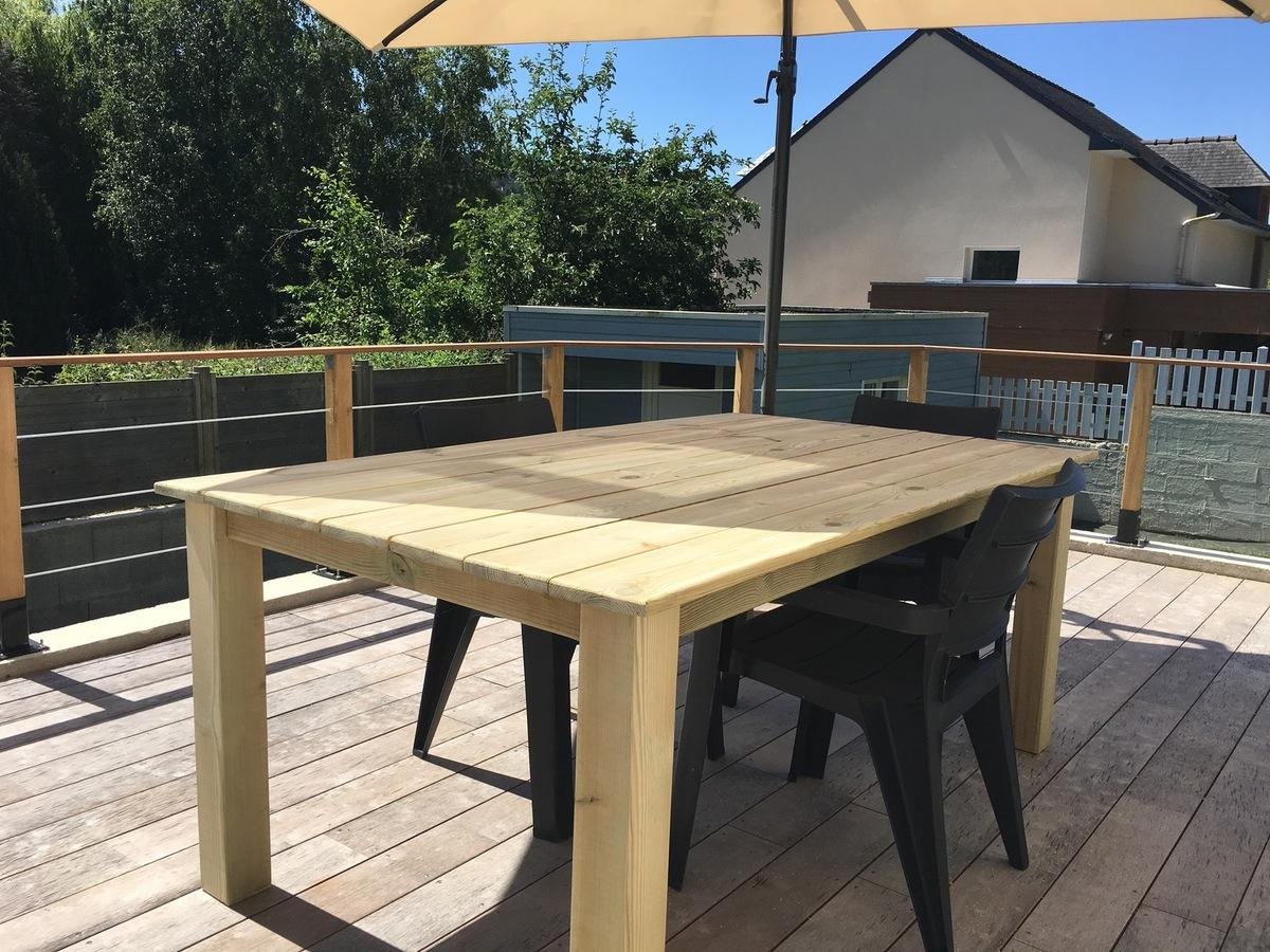 Construire Une Table Pour Votre Jardin - Bric'olive encequiconcerne Plan Pour Fabriquer Une Table De Jardin En Bois