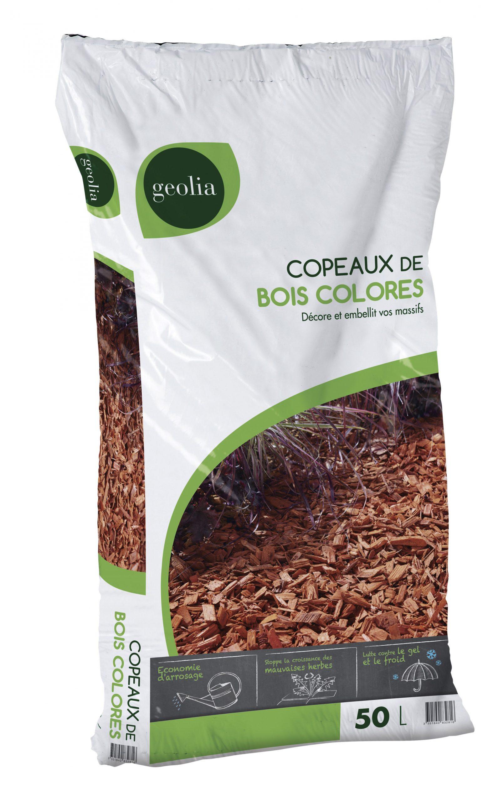 Copeaux De Bois Geolia, 50 L tout Prix Copeaux De Bois Jardin