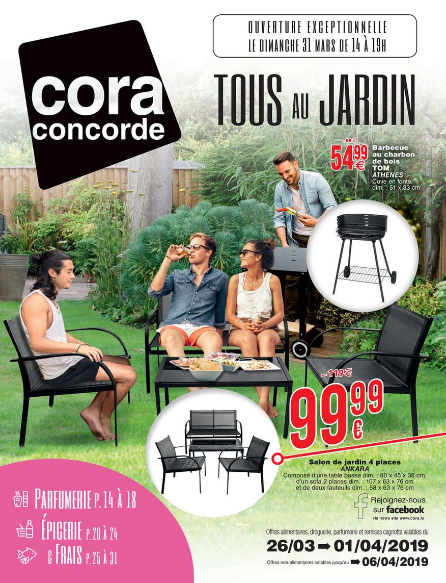 Cora - 2603 Mobilier De Jardin À Cora Concorde - Page 1 destiné Table De Jardin Cora