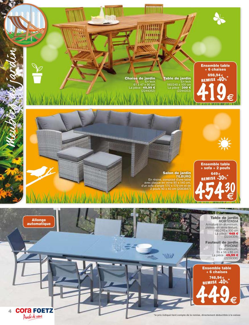 Cora Fr - Foetz-Mobilier-Jardin - Page 4-5 tout Table De Jardin Cora