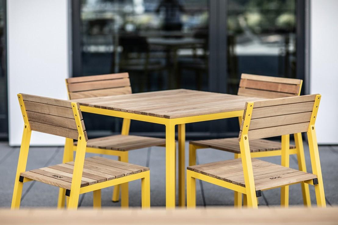 Cora, Salon Extérieur Table Et 4 Chaises, Aluminium De ... destiné Salon De Jardin Cora