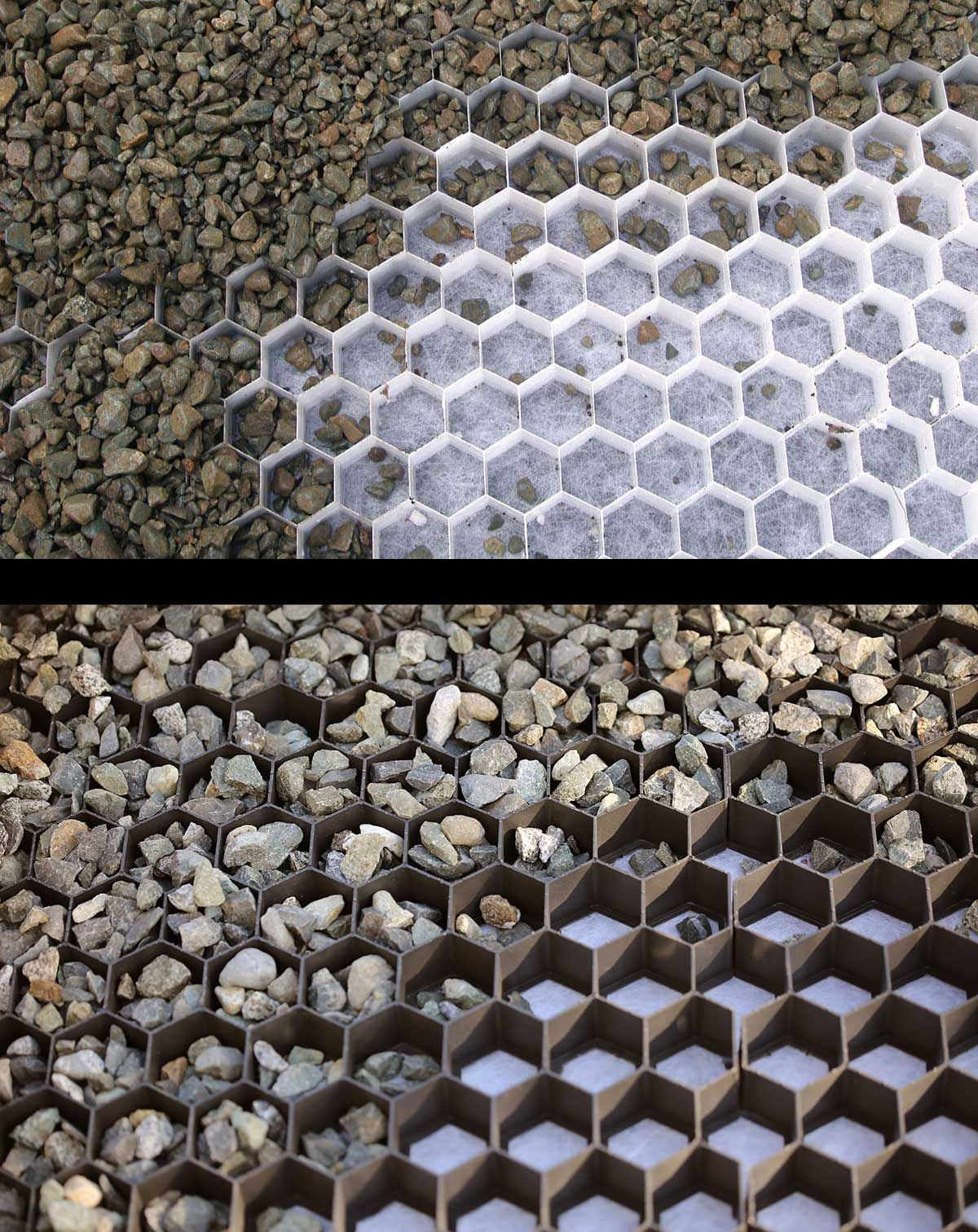 Core Gravel Grids Are Available In Black Or White ... encequiconcerne Geotextile Jardin
