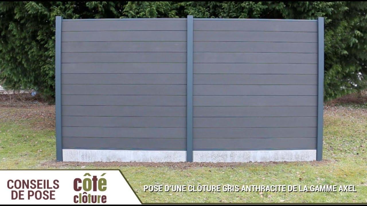 Côté Clôture - Poser Une Clôture Composite Axel destiné Cloture Jardin Castorama