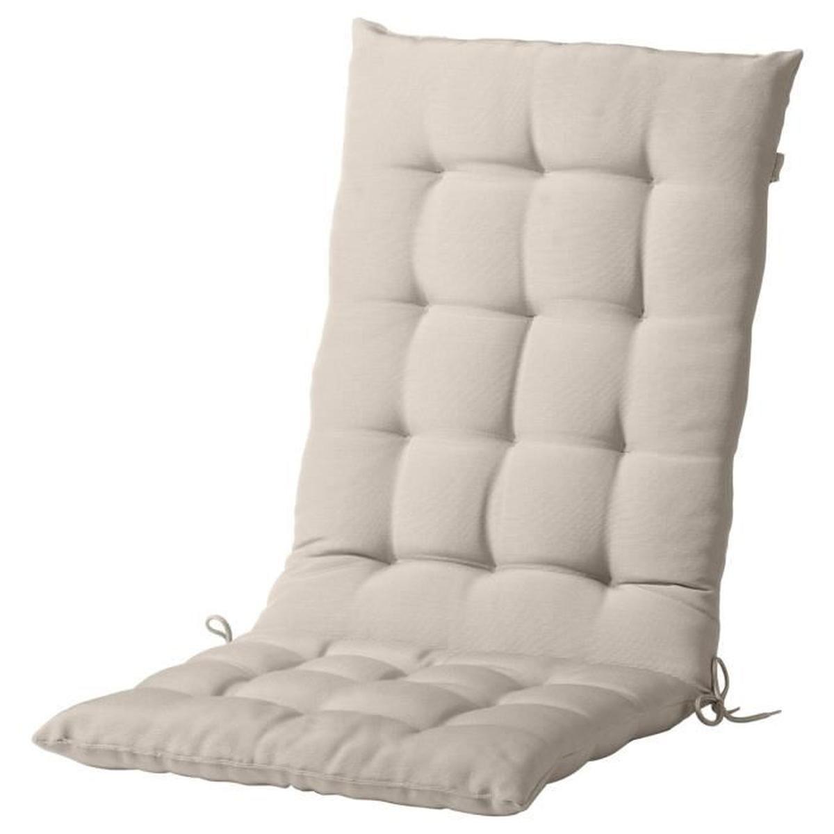 Coussin Assise Dossier Couleur Beige Pour Chaise Terrasse Ou ... à Siege Jardin Ikea