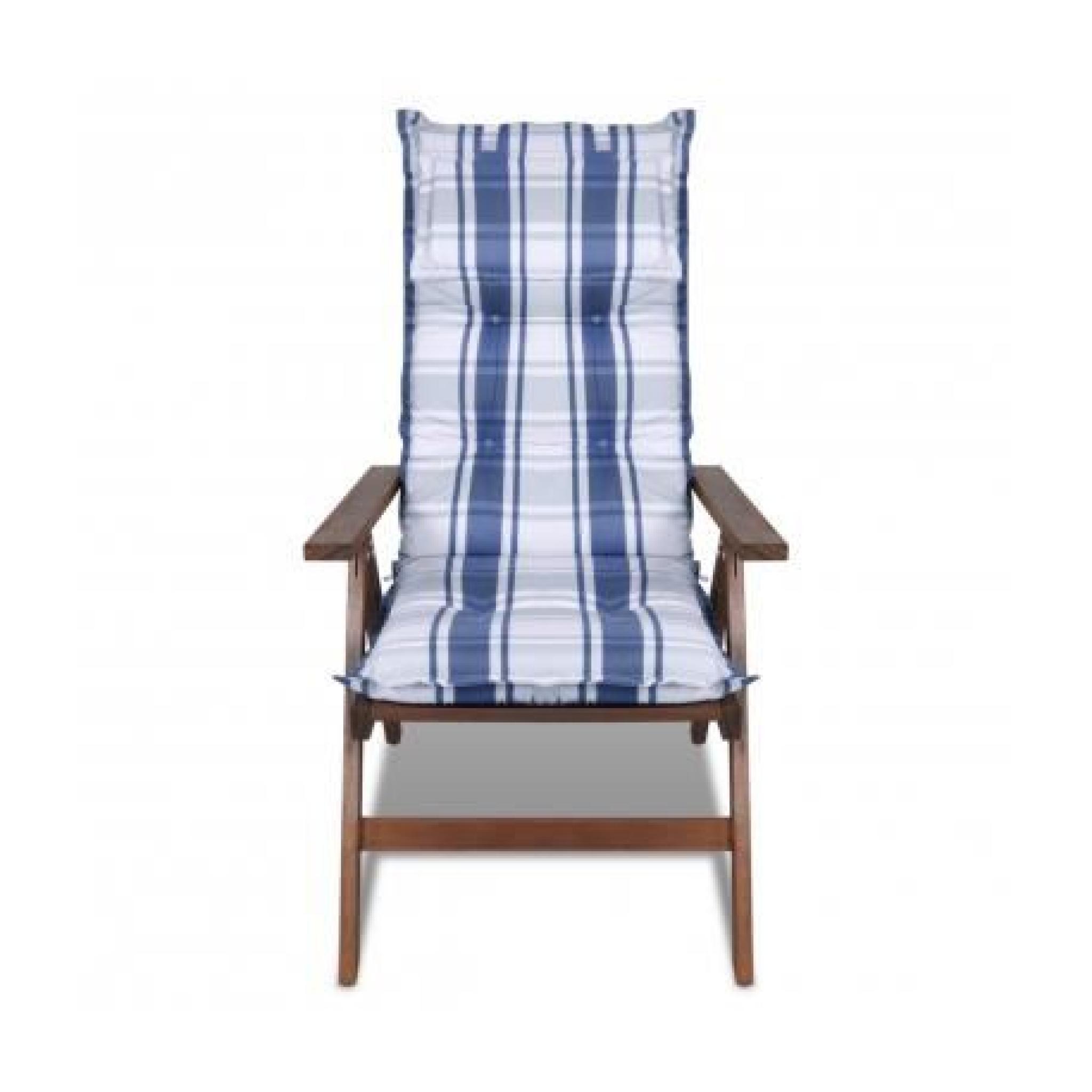 Coussin Pour Chaise De Jardin Bleu, 8Cm Dépaiss... intérieur Chaise De Jardin Bleu