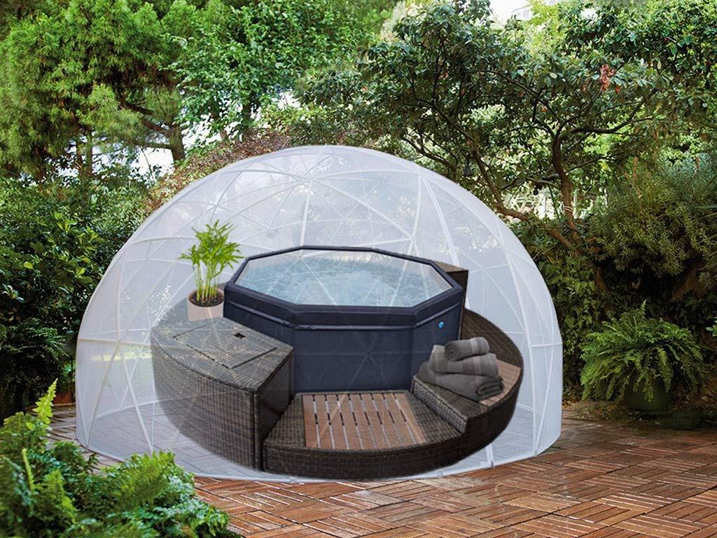 Couverture D'hiver Pour Abri Bulle Piscine Et Spa Garden Igloo avec Bulle De Jardin Prix