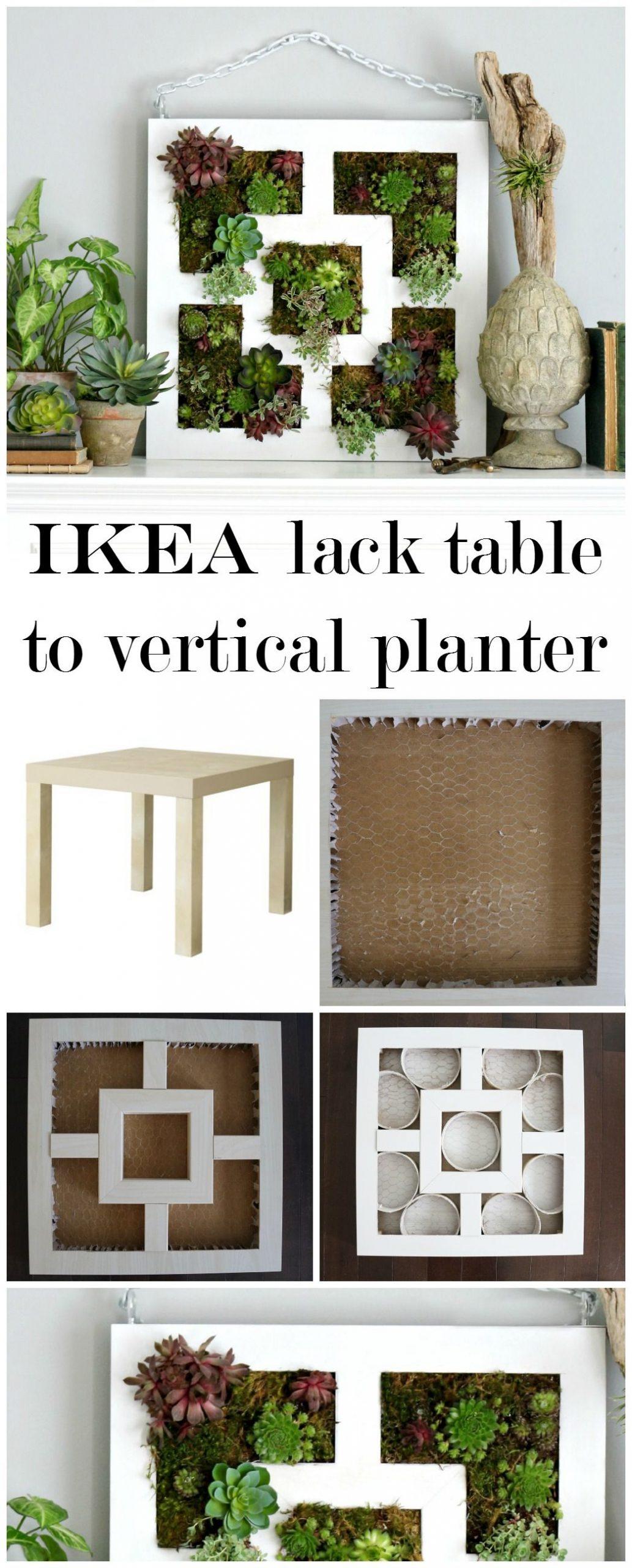 Craftberry Bush | Ikea Lack Table Hack To Succulent Vertical ... concernant Table Basse De Jardin Ikea