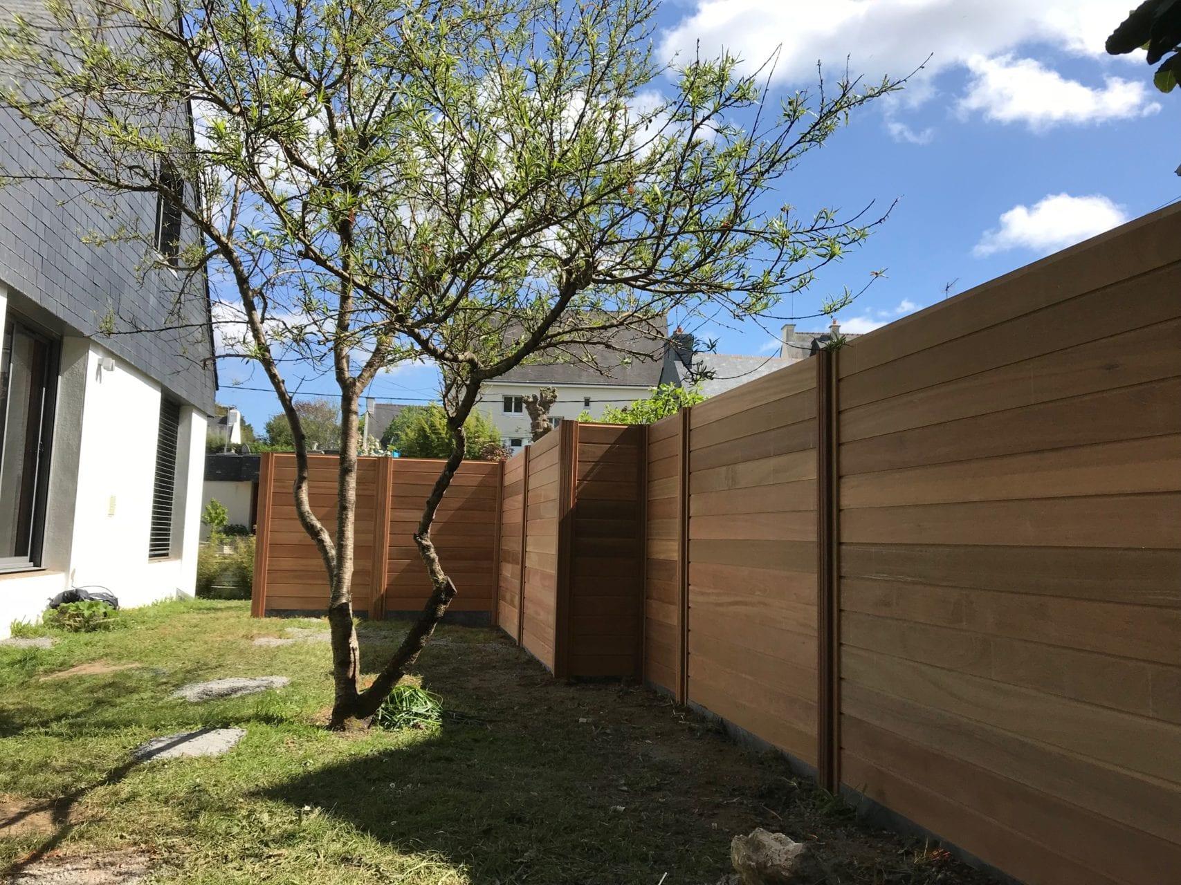 Création Clôtures Jardin - Paysagiste Vannes tout Barrière Bois Jardin