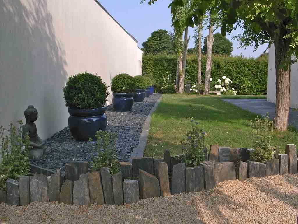 Création De Jardin Zen - Paysagiste La Rochelle Ile De Ré dedans Decoration Minerale Jardin