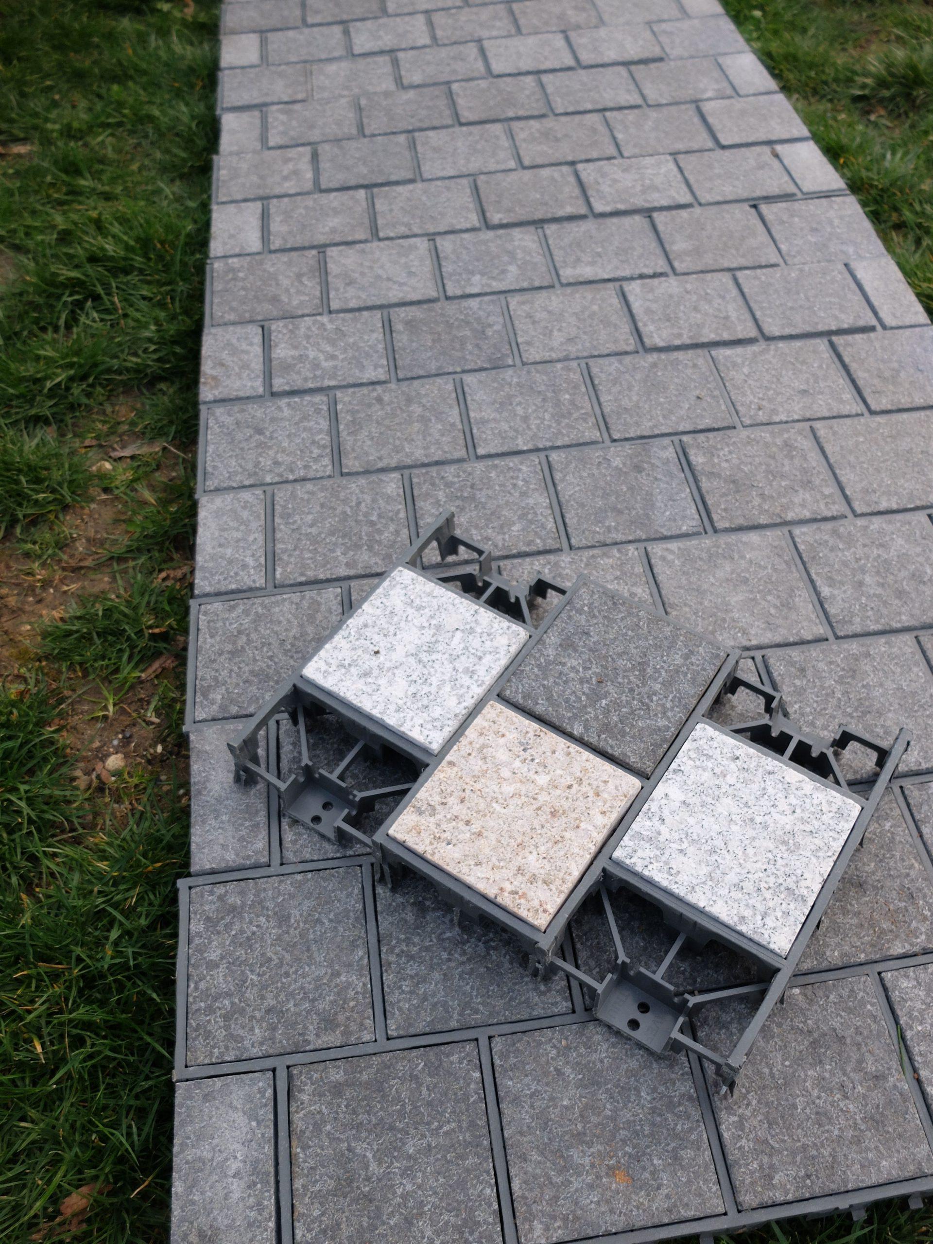 Création De Terrasse / Allée De Jardin En Pavés Granit ... à Création Allée De Jardin