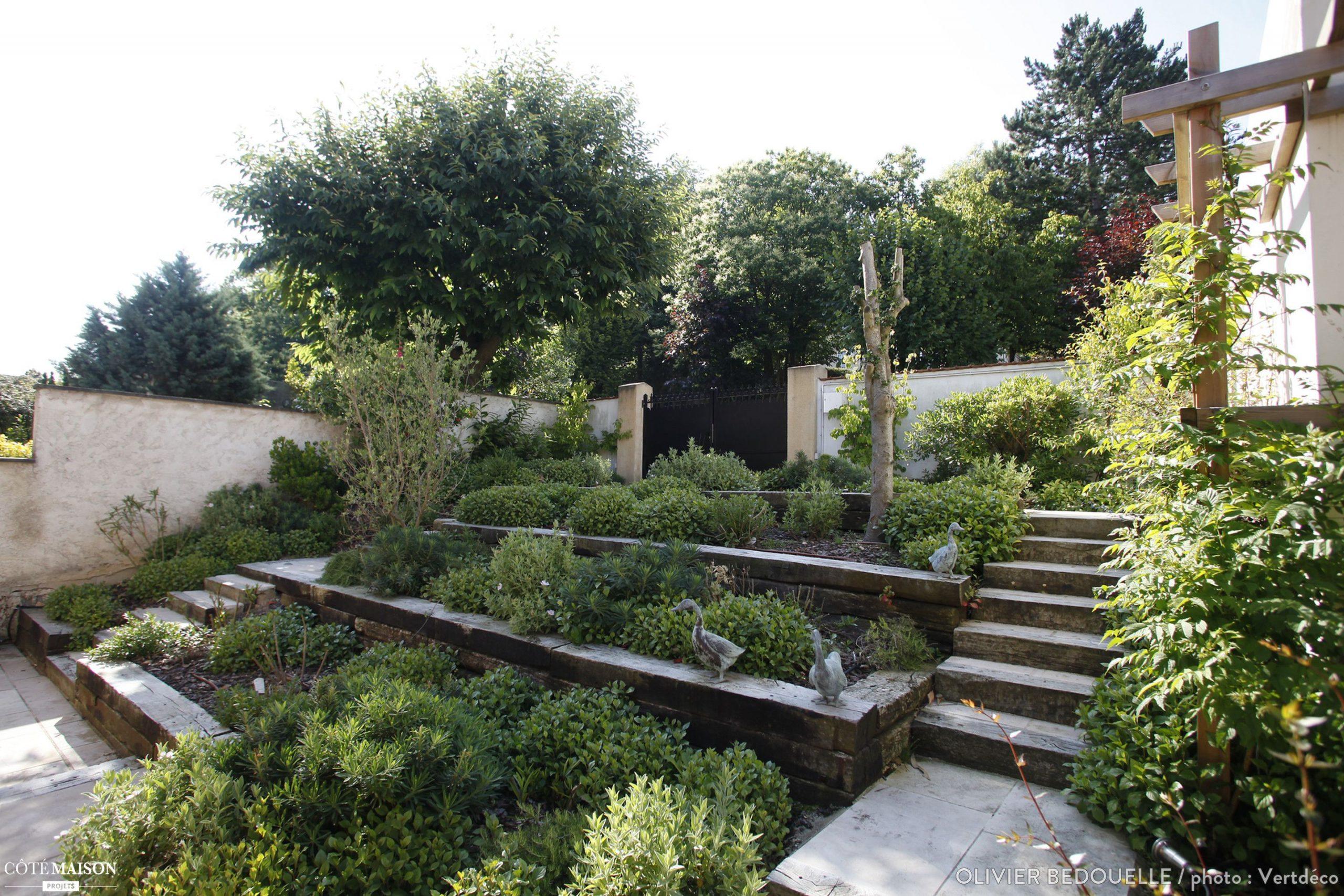 Création D'un Jardin Sur 3 Niveaux, Olivier Bedouelle ... avec Créer Jardin Japonais Facile