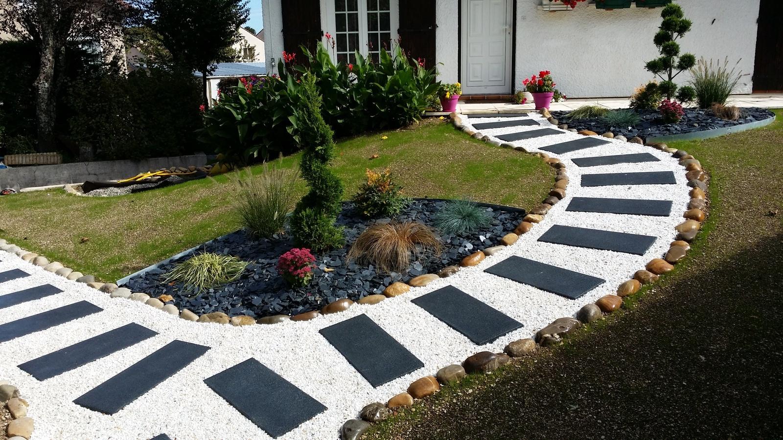 Création D'une Allée - Du Jardin A La Terrasse pour Création Allée De Jardin