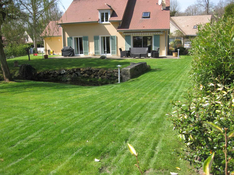 Création Et Aménagement De Jardin À Rochefort En Yvelines ... intérieur Exemple D Aménagement De Jardin