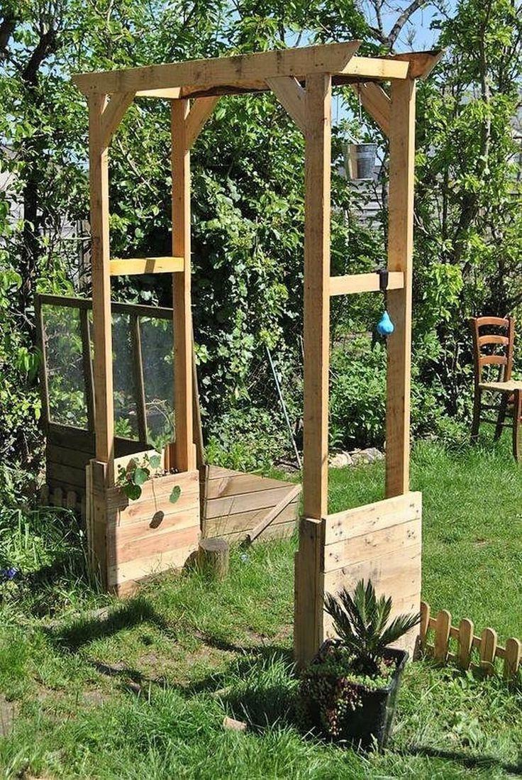 Creative Ideas For Recycling Wooden Pallets En 2020 | Arche ... avec Tonelle De Jardin