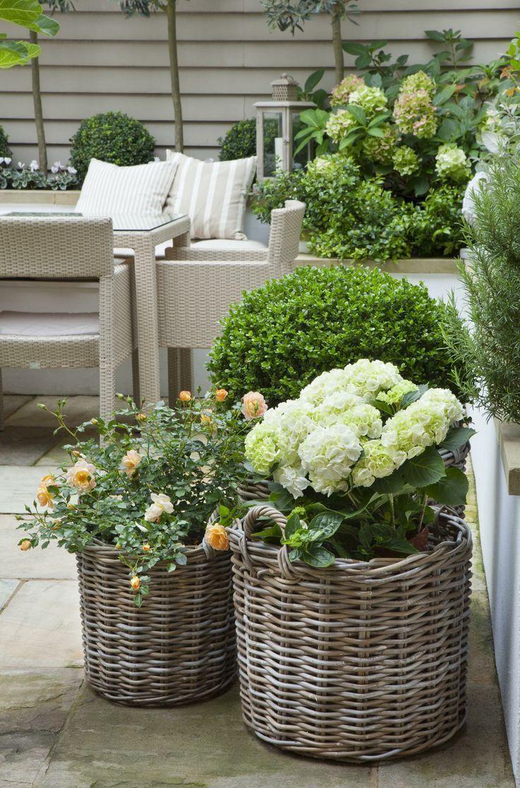 Créer Son Jardin En Pots : Trucs Et Inspiration   Idées ... concernant Jardin En Pots Potager