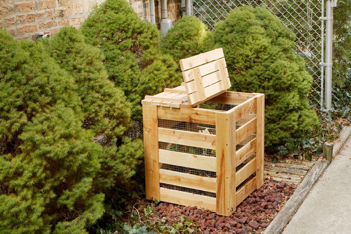 Créer Un Composteur En Bois | Make It | Composteur Bois ... dedans Composteur De Jardin