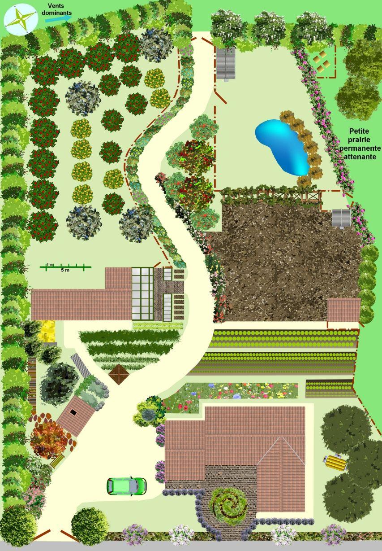 Créer Un Jardin En Permaculture - Plan. | Jardin ... concernant Exemple D Aménagement De Jardin