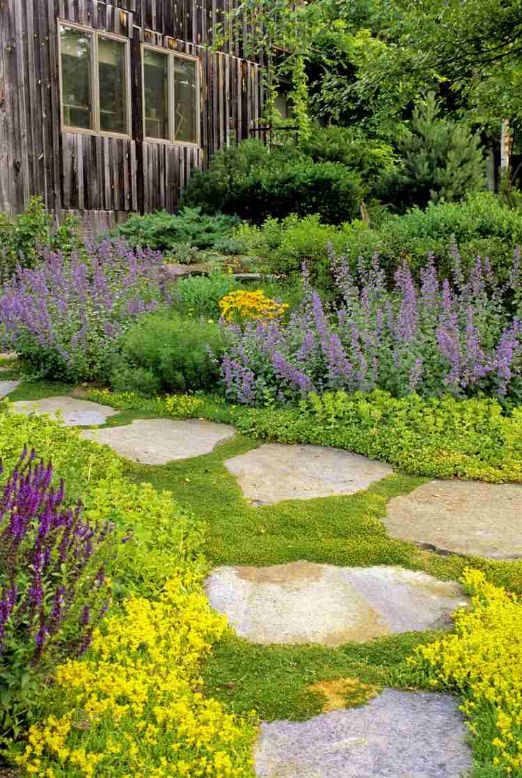 Créer Une Allée Originale – 16 Idées Pour Sublimer Le Jardin à Idée Allée De Jardin