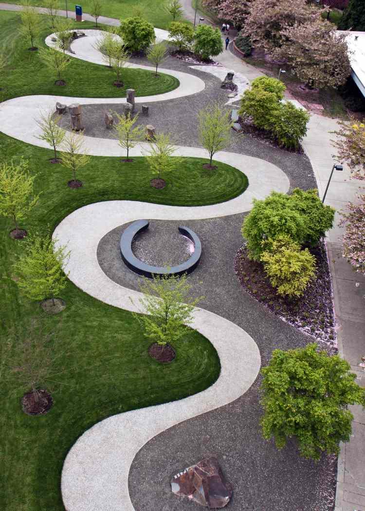 Créer Une Allée Originale – 16 Idées Pour Sublimer Le Jardin encequiconcerne Allée De Gravier Jardin