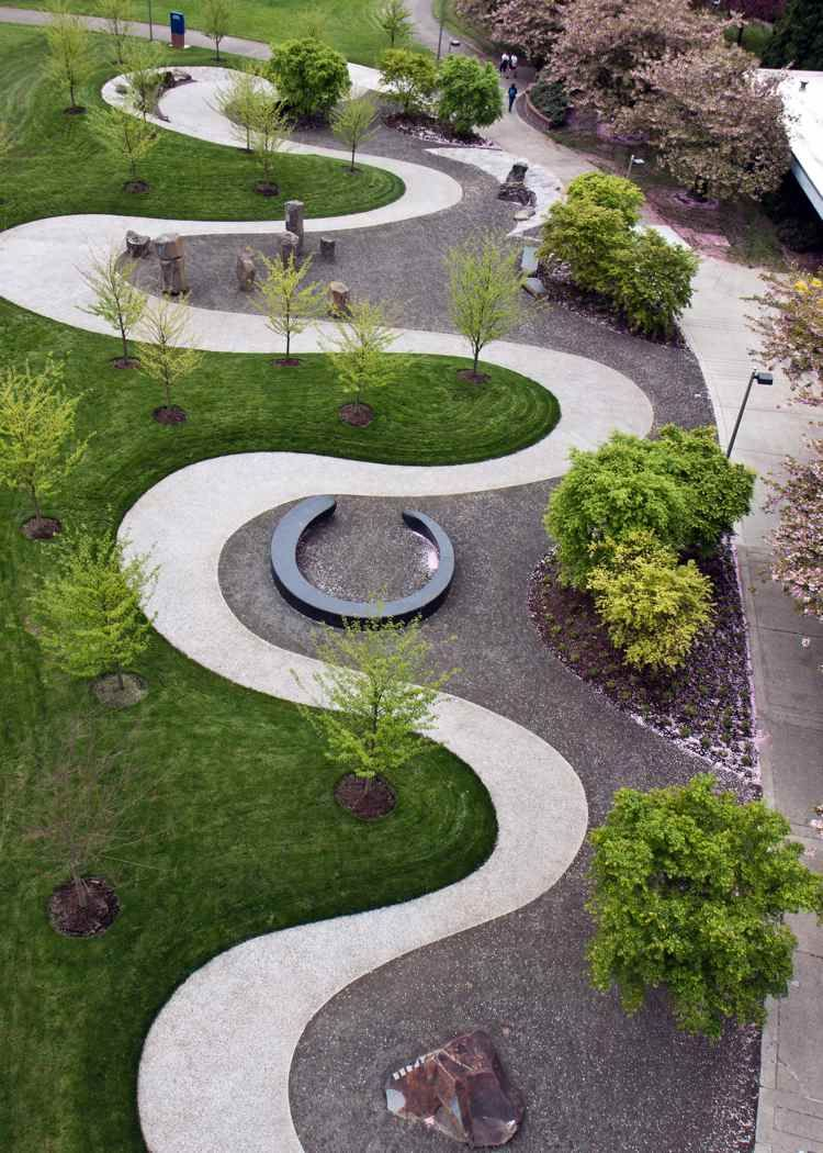 Créer Une Allée Originale – 16 Idées Pour Sublimer Le Jardin ... pour Idée Allée De Jardin