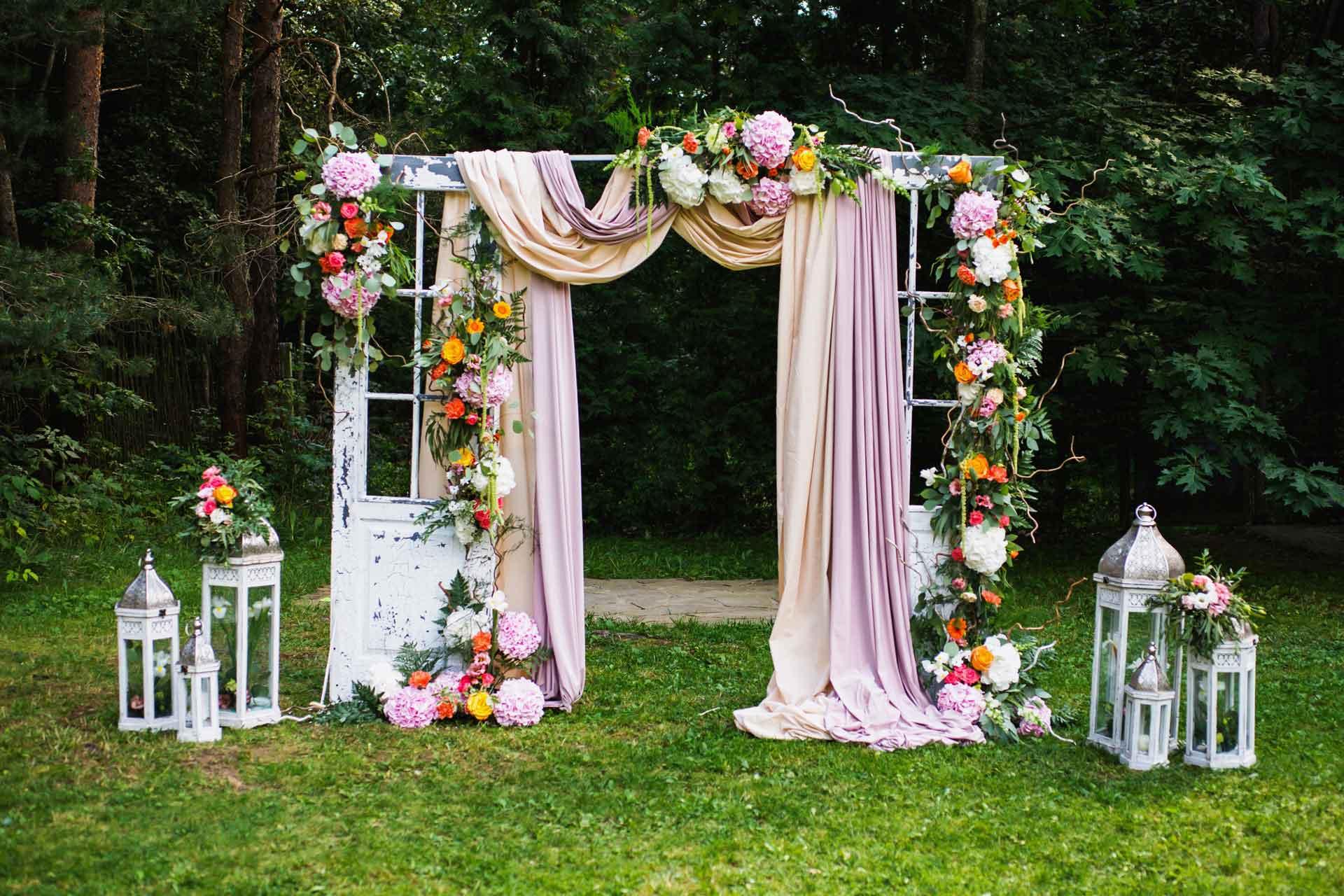 Créer Une Arche Pour Son Mariage pour Arche De Jardin En Fer Forgé