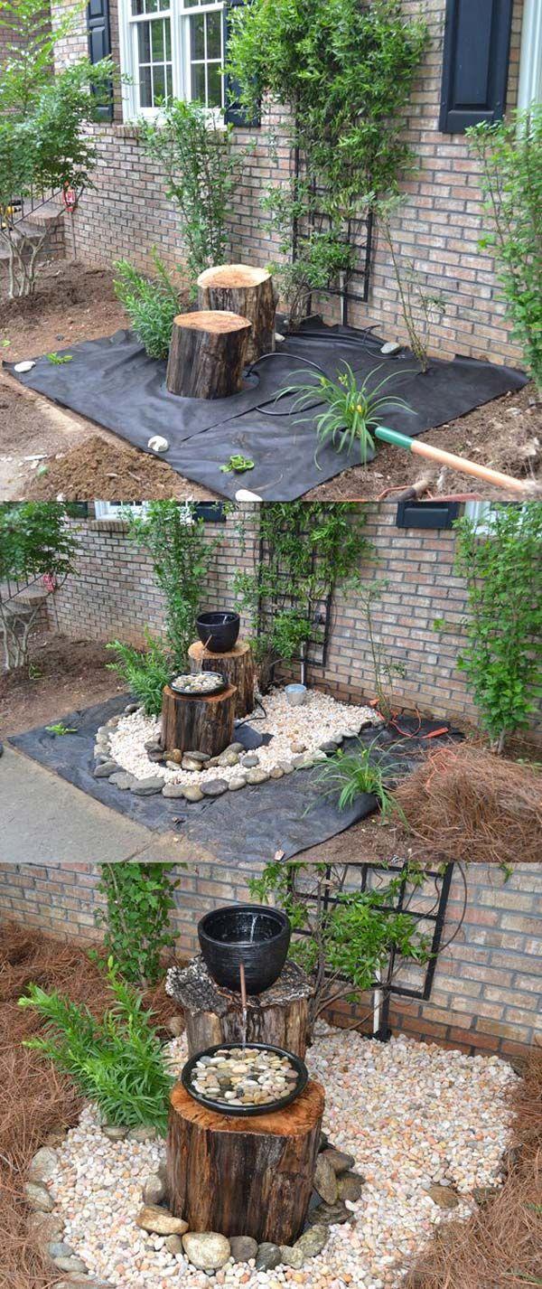 Créez Une Fontaine De Jardin Avec Des Galets, 2 Vases Et 2 ... pour Gros Cailloux Pour Jardin