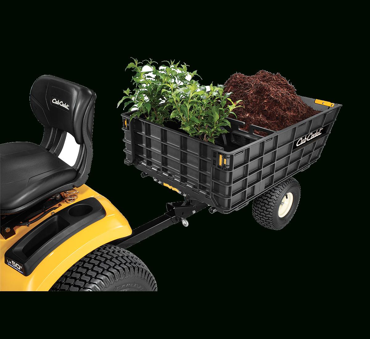 Cubcadetcanada - Remorque 10', Capacité 800 Lb, Convertible ... tout Remorque A Jardin