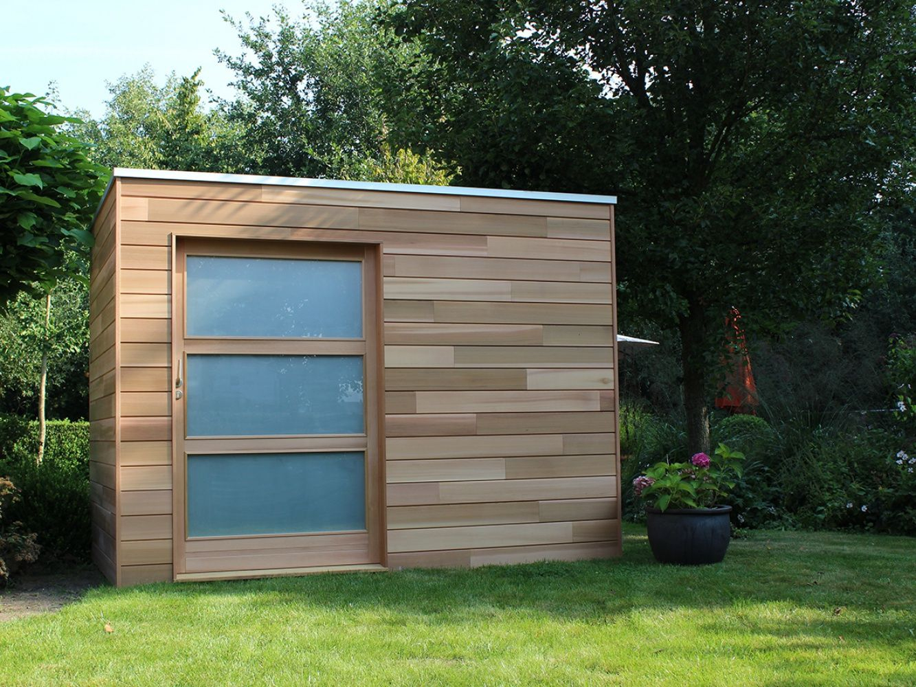 Cubeco Modern Houten Tuinhuis | Abri De Jardin, Jardin ... concernant Abri De Jardin Contemporain