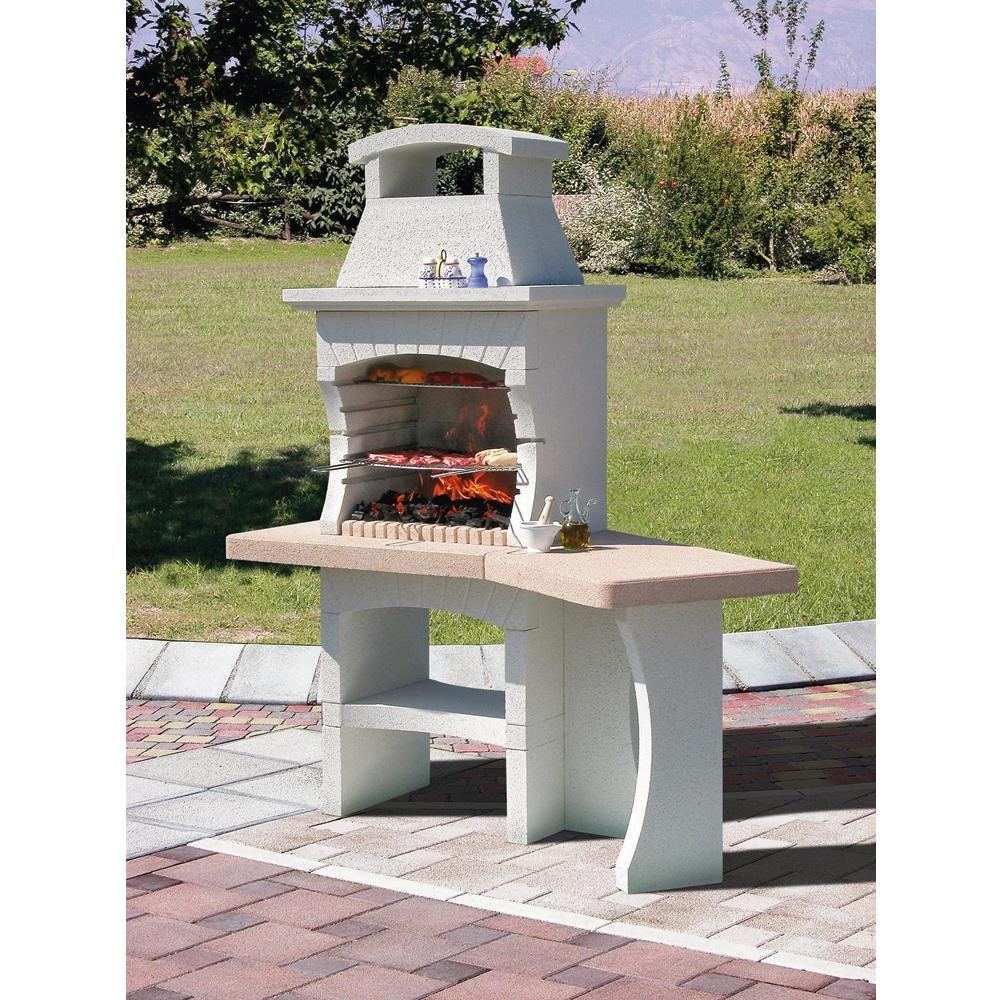 Cuisine: Barbecue En Pierre Barbecues Planchas Jardin ... concernant Barbecue De Jardin En Brique