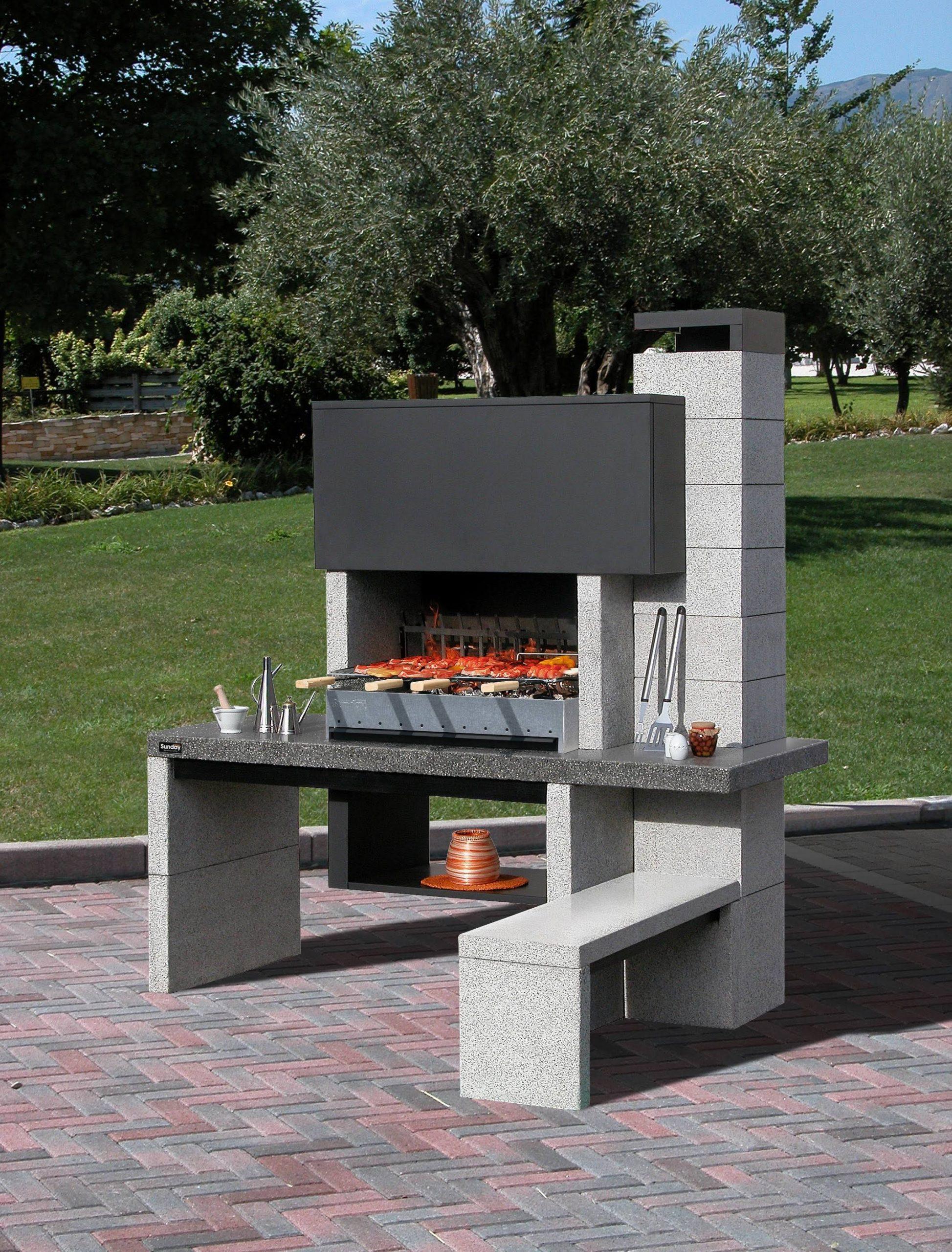 Cuisine: Barbecue Fait Maison Messages Page Construire Un ... dedans Barbecue De Jardin En Brique