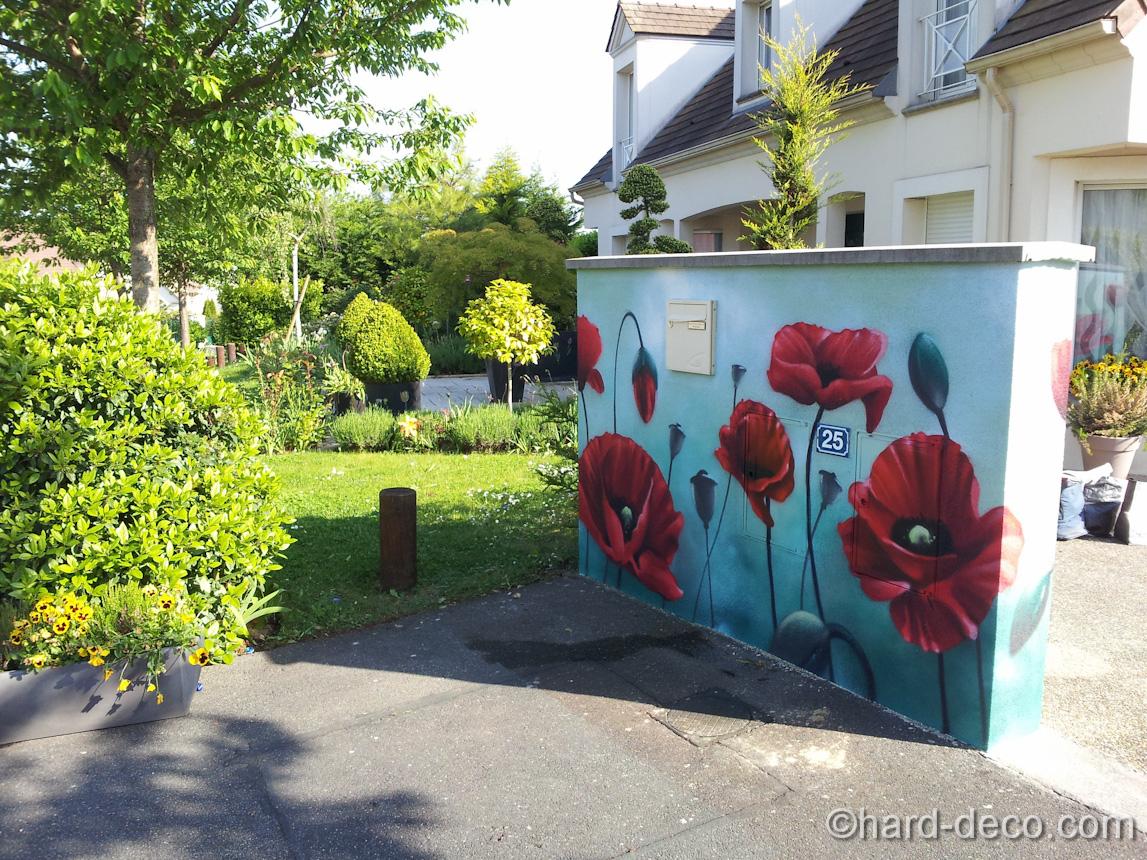 Cuisine: Decoration Plaquette Mur Exterieur Plaque De ... dedans Trompe L Oeil Exterieur Jardin