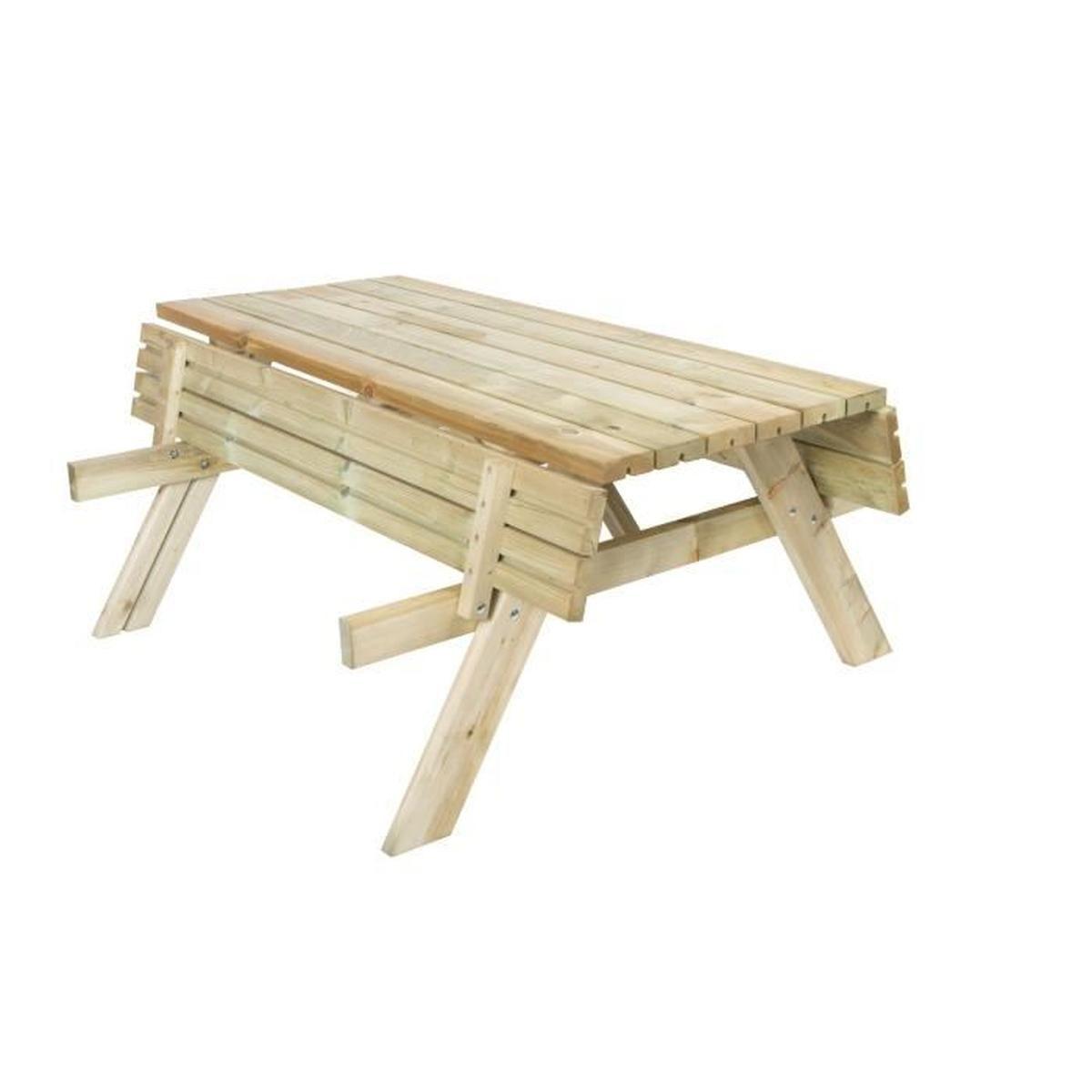 Cuisine & Maison Mobilier De Jardin Vidaxl Table De Picnic ... destiné Table De Jardin Pliante En Bois