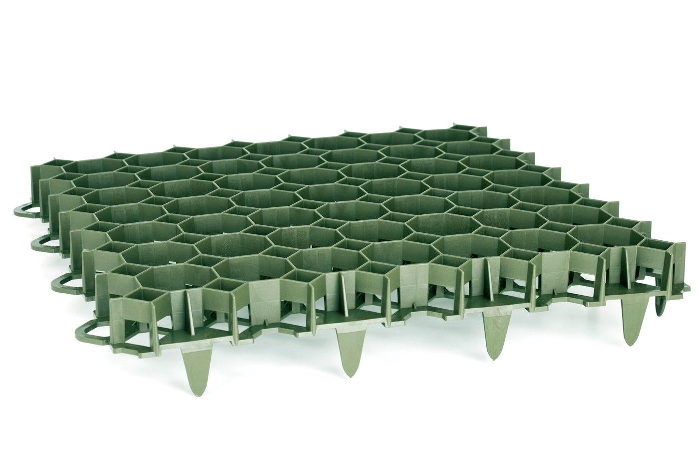 Dalle À Engazonner 47 X 47 X 3,9 Cm, Résistance : 3,5 Tonnes ... intérieur Dalle Plastique Jardin