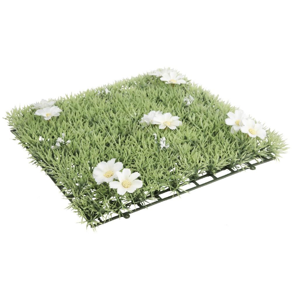 Dalle De Gazon Artificiel Fleurs Blanches avec Dalle Plastique Jardin