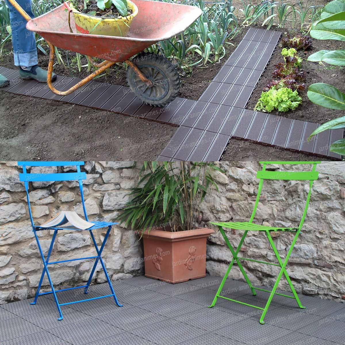 Dalle De Jardin Clipsable En Plastique | Dalle Jardin, Dalle ... pour Dalle Plastique Jardin