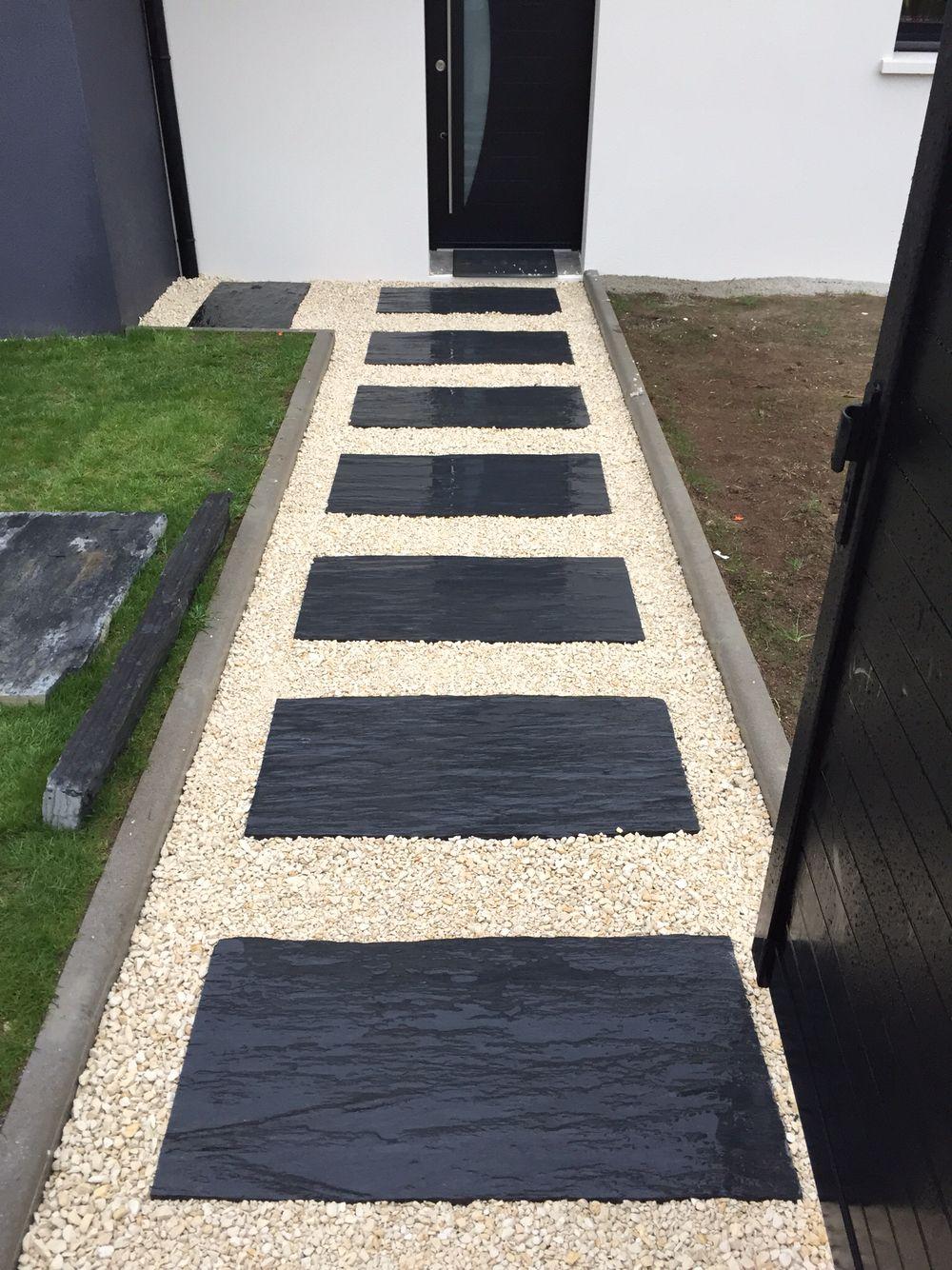 Dalle De Schist Terrasse | Amenagement Jardin, Jardins Et ... serapportantà Caillebotis De Jardin