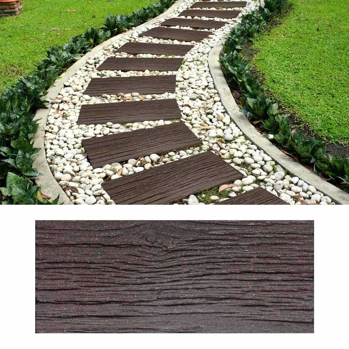 Dalle Extérieure Imitation Bois - Caoutchouc Recyclé 25X60Cm avec Dalle Plastique Jardin