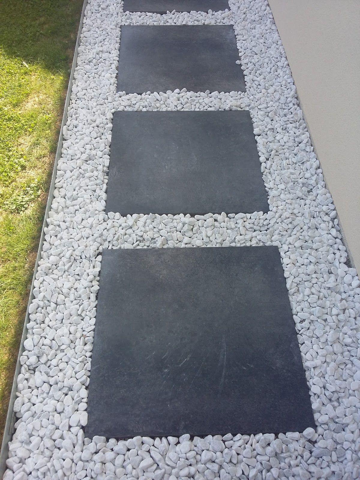 Dalle Galet Allée Gravier Pas Japonais Dalle Grise Décoratif ... destiné Bordure De Jardin Gris Anthracite