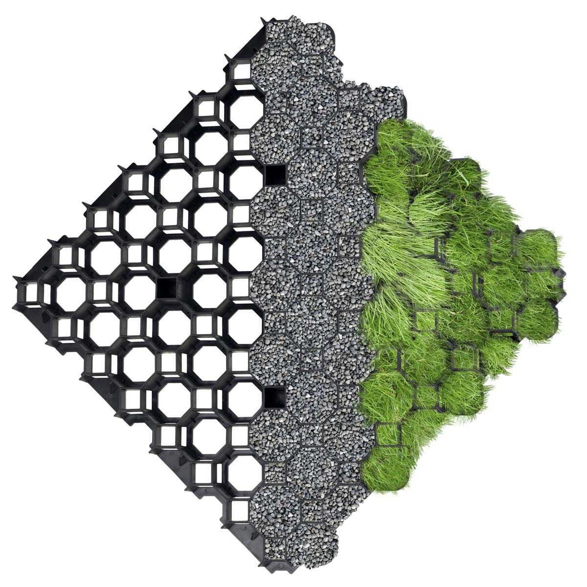 Dalle Stabilisatrice À Engazonner 100% Recyclée serapportantà Dalle Plastique Jardin