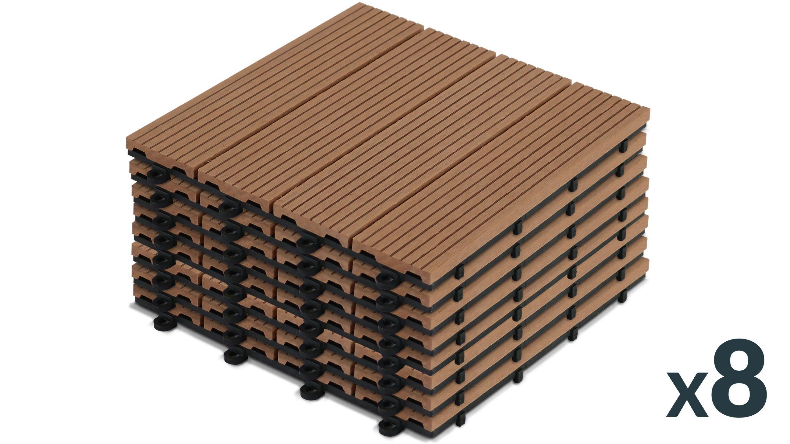 Dalles Terrasse Clipsables Bois Composite destiné Dalle Plastique Jardin