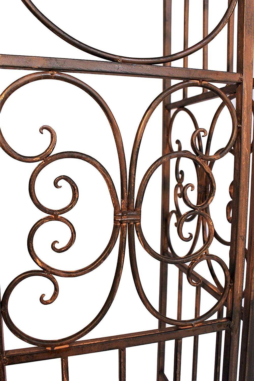 Dandibo Ambiente 120853 Arche À Roses En Fer Forgé Avec ... destiné Arche De Jardin En Fer Forgé