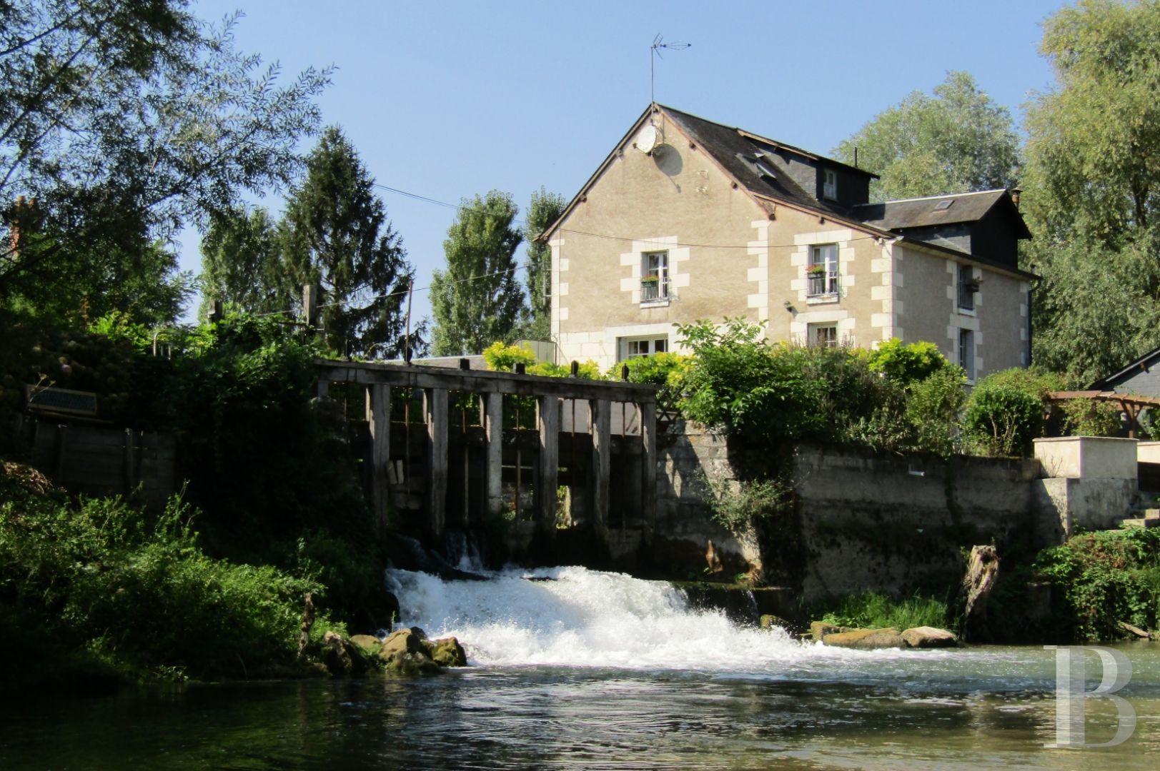 Dans Le Sud De La Touraine, Au Bord De L'indre, Un Moulin Du 18E Siècle Et  Son Jardin Paysager tout Moulin De Jardin A Vendre