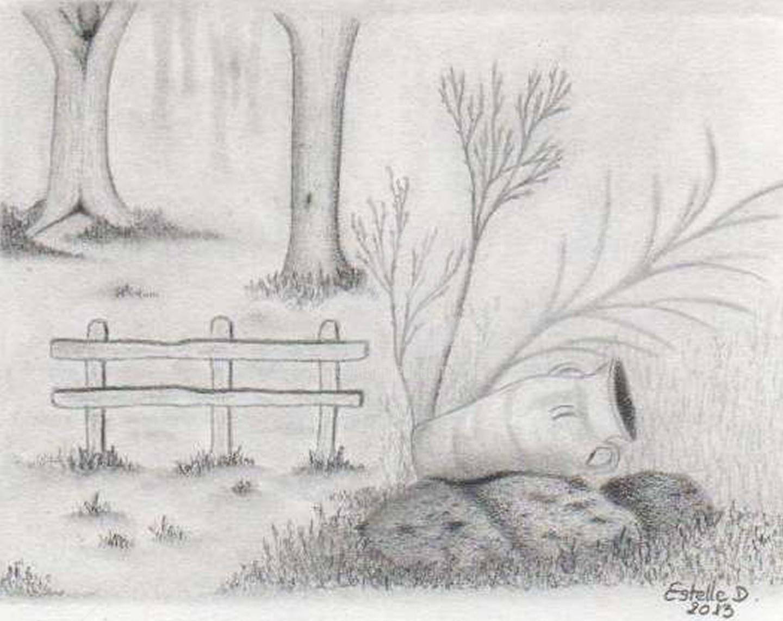 Dans Les Jardin Du Chateau De Trevarez Çizim Estelle D ... serapportantà Amphore De Jardin