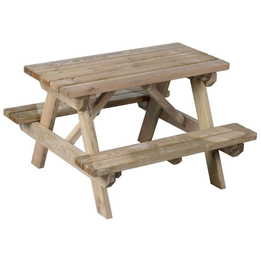 De Enfant Nique Palettelxlxh90 Pique X Bois Sur Table Livré ... serapportantà Table De Jardin Pique Nique Bois