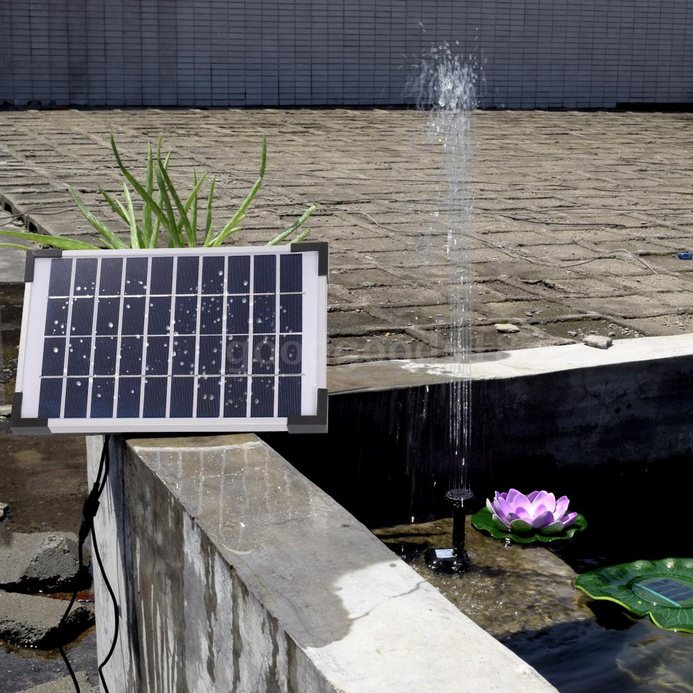 Decdeal Pompe À Eau 12V 1.6W Pompe Solaire Pompe Solaire ... avec Pompe Pour Bassin De Jardin