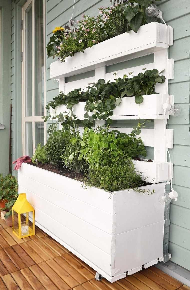 Deco Avec Palette Pour L'intérieur / Jardiniere En Palette ... pour Idee De Plantation Pour Jardin