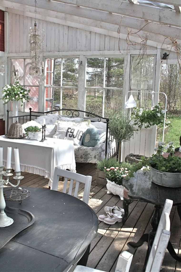 Déco De Jardin Avec Meubles Shabby Chic | Outdoor Rooms ... concernant Meubles Veranda Jardin